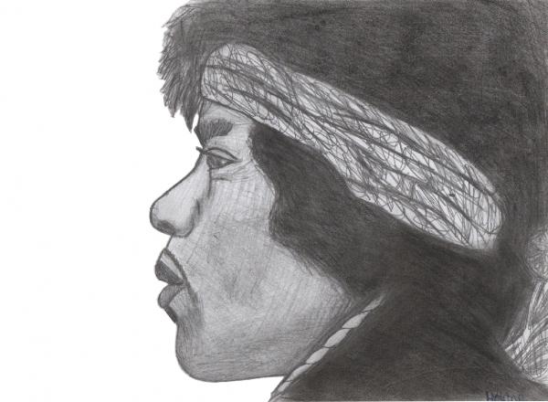 Jimi Hendrix by Scarlett